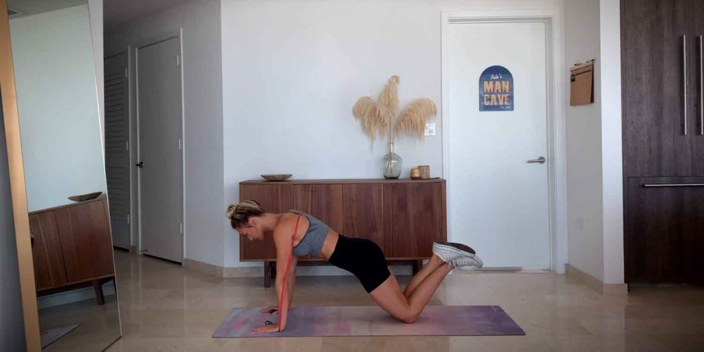Banded Push-ups from Knees